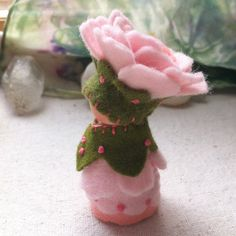 Fairy Rose Gnome Waldorf Storytelling Dollhouse by paintingpixie, $36.00