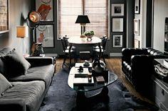 masculine manly bachelor pad interior design decorating