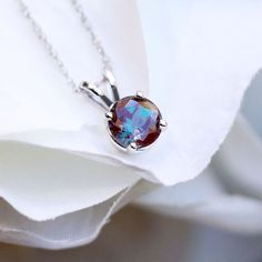 Loving this gorgeous 1.35ct Lab-Created Alexandrite pendant from MiaDonna.