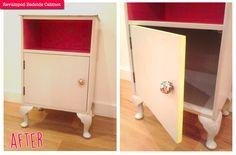 1950s bedside cabinet makeover