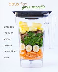 The only green smoothie you'll ever need! Fresh spinach and flax seeds are sweetened with citrus and bananas. You'll be shocked at how good this tastes!