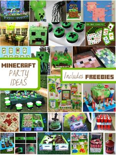 Minecraft party ideas by Creative Little Stars all freebies by www.creativelittlestars.com  #minecraft #minecraftparty #minecraftpartyideas