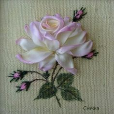 Gallery.ru / Фото #103 - МК и примеры вышитых роз лентами. - Innetta