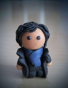 Polymer clay Sherlock, cute!! by coralfg.deviantart.com on @deviantART