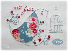 Looking for your next project? You're going to love Fly Free - stitchery by designer Elefantz.