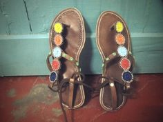 maasai beaded sandals from kenya