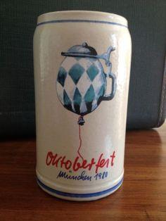 Official 1980 MUNICH OCTOBERFEST Beer Stein Mug (MUNCHEN OKTOBERFEST) RASTAL