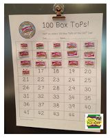 100 Box Top challenge for 100th day of school! Love Simply Kinder and Love Box Tops for education!  Win-Win