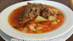 RETETE: Ciorba cu oase de porc Pot Roast, Beef, Ethnic Recipes, Pork, Carne Asada, Meat, Roast Beef, Steak