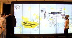 Un grand mur digital interactif dans le magasin Rag en Autriche Digital Signage, Digital Wall, Tech Art, Buisness, Digital Marketing, Innovation, Articles, Retail, Events