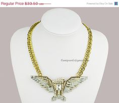 Statement NecklaceEagle NecklaceCrystal NecklacePunk by Camipearls, $30.15