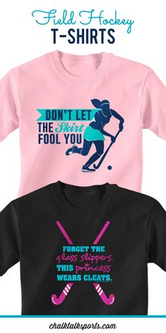 Our field hockey tees make great gifts for any field hockey player or field hockey fan!  Our short sleeve t-shirts are made of a 100% cotton jersey materiel so they are extra soft and comfortable!  You can even personalize our tees with player name and player number on the back to create an extra special field hockey gift!  Only from ChalkTalkSPORTS.com!
