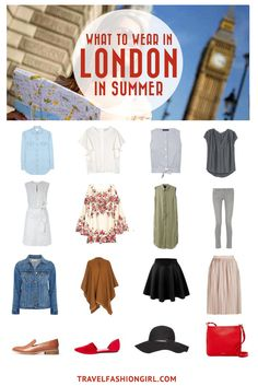 Traveling to London or other parts of the UK in the Summer? Use this comprehensive packing guide to help you pack stylishly light. | travelfashiongirl.com