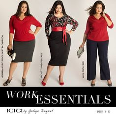 igigi fashion is the best for work essentials also I love red and black I wish I could have all three outfits