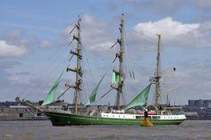 Tall Ships, Liverpool, July 2008: German three-masted sailing ship Alexander Von Humboldt.