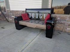 Changing things up with this one, check out this by Bauer Designs. Garage Furniture, Car Part Furniture, Automotive Furniture, Automotive Decor, Unique Furniture, Automotive Engineering, Engineering Colleges, Handmade Furniture, Furniture Ideas