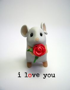 i love you - Quernus crafts - the best! So cute. Wish I was this talented with clay. Just a pic.