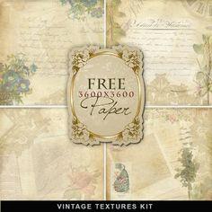 Vintage Textures Kit- FREEBIE--Far Far Hill