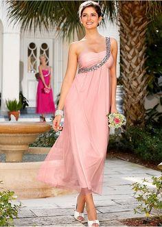 Długa sukienka na jedno ramię Z • 159.99 zł • bonprix