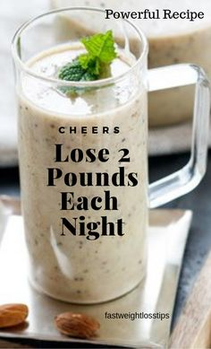 Lose 2 pounds each night using these magic weight loss drinks that get you almost instant results. If you have been trying to lose some water weight, this drink will help you accomplish your goal. Losing weight fast can be done at home if you have the rig Weight Loss Drinks, Weight Loss Smoothies, Drinks To Lose Weight, Weight Loss Food, Smoothies Healthy Weightloss, Fitness Smoothies, Weight Loss Cleanse, Fast Weight Loss Tips, How To Lose Weight Fast