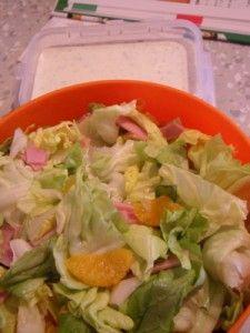 Salat mit Frischkäse