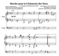 PDF score. Basic level. 2 pages. Organ Music, Jean Baptiste, Sheet Music, Pdf, Music Sheets