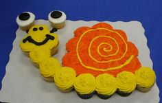 Snail Cupcake Cake-perfect for that Turbo birthday Nathan wants to have!