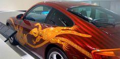Aboriginal art on a Porsche