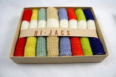 Vintage  HiJacs Terry Cloth Drink Coasters/ Bottle Koozies set of 8 by LuckySevenVintage, $20.00
