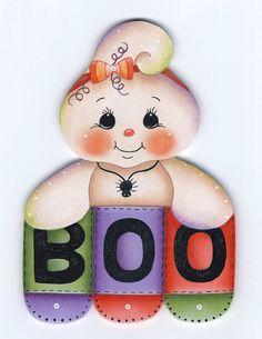 Boo Ghost Painting E-Pattern por GingerbreadCuties en Etsy