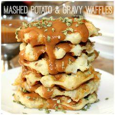 ~Mashed Potato & Gravy Waffles!