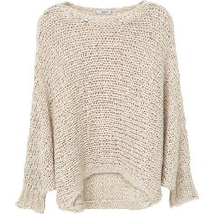 MANGO Openwork Wool-Blend Sweater ($70) ❤ liked on Polyvore featuring tops, sweaters, round top, pink long sleeve top, pink top, long sleeve tops and mango tops