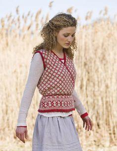 veronik avery wrapped sweater vest knitting pattern