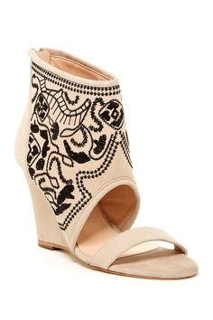 Paula Embroidered Wedge Sandal by Plomo on @nordstrom_rack