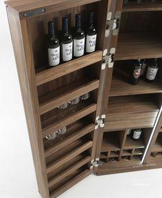 Многофункциональный шкаф из дерева Cambusa Wine Vineria, Riva 1920 - Мебель МР