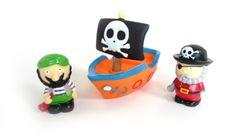 Aspergeurs de bain - Pirates  #aspergeurs #bain #jouets #toys #pirate #boat