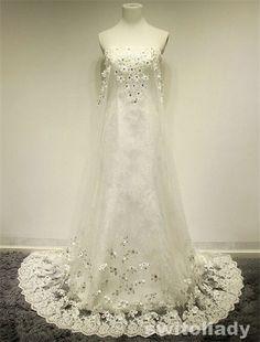 custom handmade Korean type pricess sweet strapless lace up mermaid trailing bridal wedding dress gowns