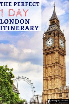 An itinerary and planning guide for spending 1 day in London, including all the top sights as well as money saving and transport tips for getting around the UK capital. One Day In London, Things To Do In London, London Decor, Deco London, Uk Capital, Highgate Cemetery, Uk Destinations, Thing 1, 1 Day