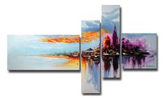 Gallery-Wrapped and Hand-Painted Multipanel Oil Paintings on Canvas | Groupon