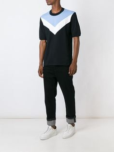 Raf Simons - Fred Perry colour block abstract print T-shirt