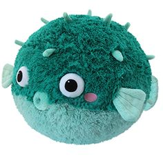 Kawaii plush stuffed toys - cuddly and furry friends Squishable Teal Pufferfish: An Adorable Fuzzy Plush to Snurfle and Squeeze!