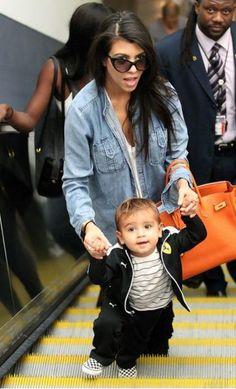 Mason Kardashian in Joah Love. Doesn't he look adorable? #kids #baby #style