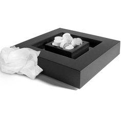 Centro de mesa para servir las toallitas Napkin  Diseño de Sergio Mori  Fabricado en ABS de goma (tacto suave)  Apto para lavavajillas