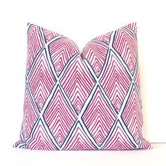 Pink Rhombus decorative Designer Pillow Cover by WhitlockandCo