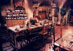 Greek restaurant set design by Ron Olsen Greek Restaurants, Olsen, Set Design, Table Settings, Room Ideas, Homes, Painting, Stage Design, Houses
