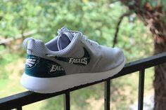 Philadelphia Eagles Nike Custom Roshe by GrabbKicks on Etsy