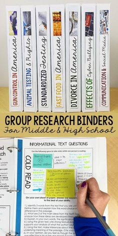 Research Paper Unit for Teens | Grades 8-12 | Middle & High School | Group Research Binders | Research Essay