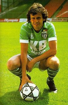 """Michel Platini (AS Saint-Étienne, 1979–1982, 104 apps, 58 goals). Only one team in France has the honor to wear a star which represents 10 """"Ligue 1"""" (French Championship) titles won-and that is Saint-Étienne. Their glory years are far behind but memories of the golden age are indelible. One of these is to see Platini wearing the shirt of """"Les Verts""""."""