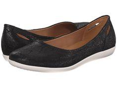 Clarks Helina Alessia Black Suede - 6pm.com Flats $56