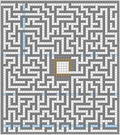 This is a picture of the maze. I used Minecraft Structure Planner.